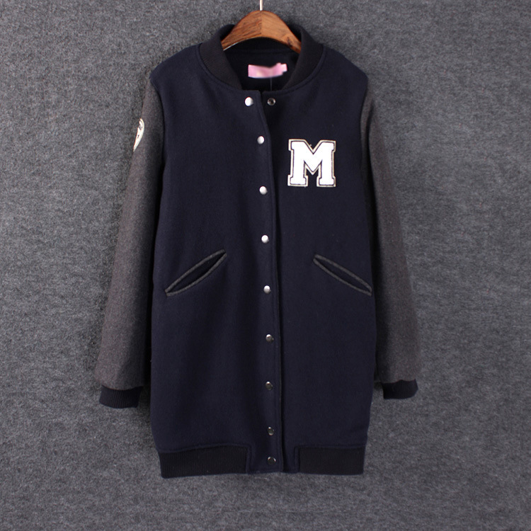 Discount during the spring and autumn winter new M affixed cloth long letters baseball uniform motion