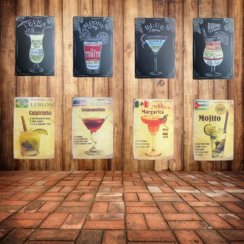 Retro Plaque Premium BEER Metal Tin Signs Vintage BAR Pub Home Wall ...