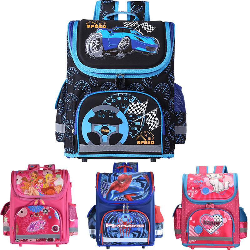 Kids school Backpack monster high butterfly winx  EVA FOLDED orthopedic Children School Bags for boys and Girls mochila infantil kindergarten new kids school backpack monster winx eva folded orthopedic baby school bags for boys and girls mochila infantil