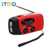 3 en 1 Multifunción Solar Powered Generador Dinamo de la Manivela Cargador de Emergencia LLEVÓ La Linterna FM/AM de Radio Cargador de Teléfono