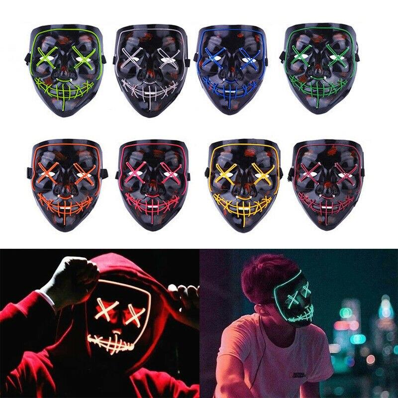 LED Mask Purge Light Up For Halloween Captain America