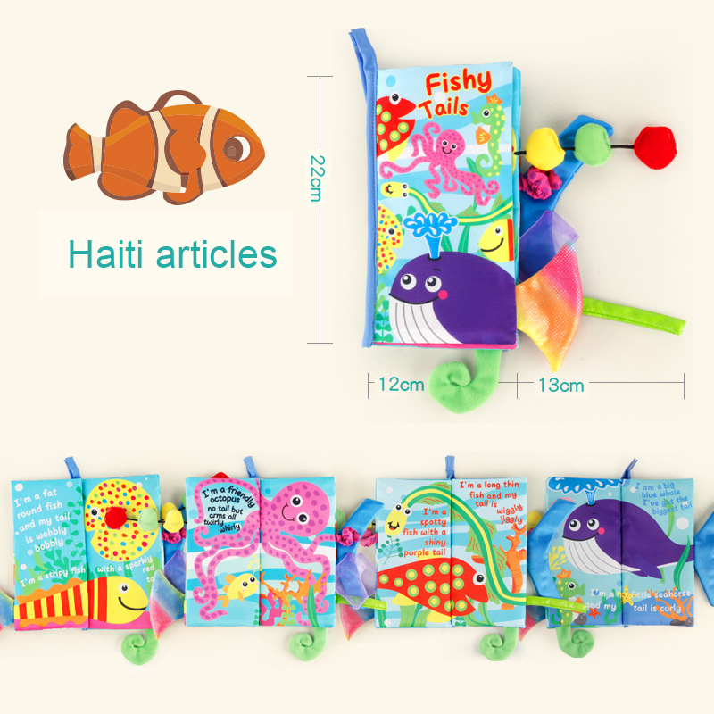 Children Educational Toys Sensory Stimulation Touch Toy Develop Intelligence Cloth Book Readings Puzzle For Childrens
