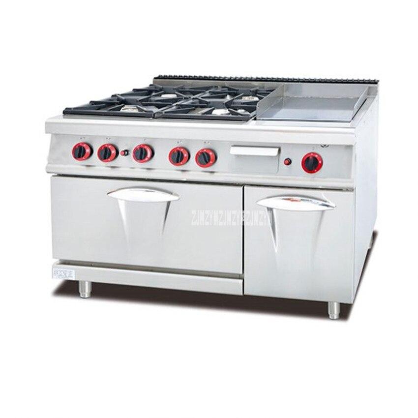 Kitchen Equipment Cabinet 4 Burners Gas