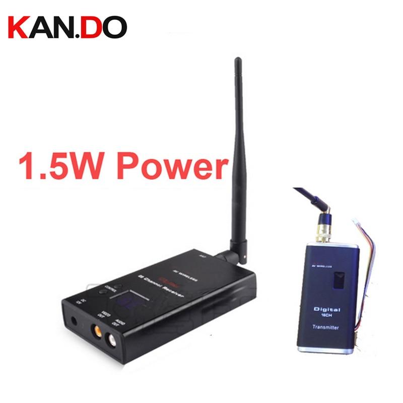 1.5W 16ch wrieless transceiver 0.9-1.3Ghz Wireless image drone transmitter FPV Video Audio Transmitter Receiver AV sender видеорегистратор qstar le5