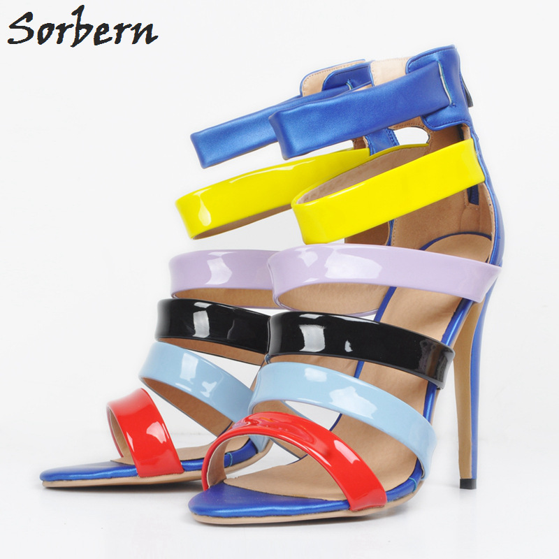 Sorbern Colorful Women Sandals High Heels Plus Size Sandals Women 2018 Summer Ladies Sandals With Heels Designer Shoes For WomenSorbern Colorful Women Sandals High Heels Plus Size Sandals Women 2018 Summer Ladies Sandals With Heels Designer Shoes For Women