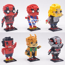 DC Brickheadz Dragon Ball Z Brick Headz Building Blocks Marvel Batman Spiderman Superman loki joker Action Figures legoING Toys(China)