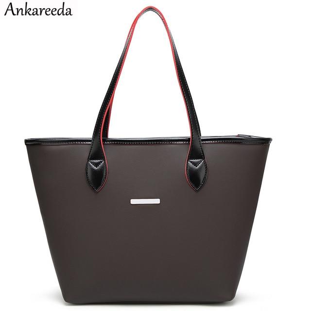 Ankareeda Brand Designer Beach Bag Handbags High Quality Top Handle Bags Women Las Leather