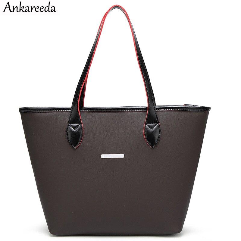 Ankareeda Brand Designer Beach Bag Handbags High Quality Top-Handle Bags Women Bag Ladies Leather Shoulder Bags