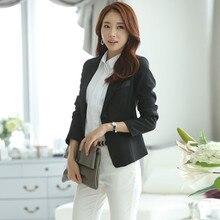 Women Blazers And Jackets Autumn New Women's Black One Button Blazers Cardigan Fashion Jackets Suit Blazer Plus Size S-6XL C1238