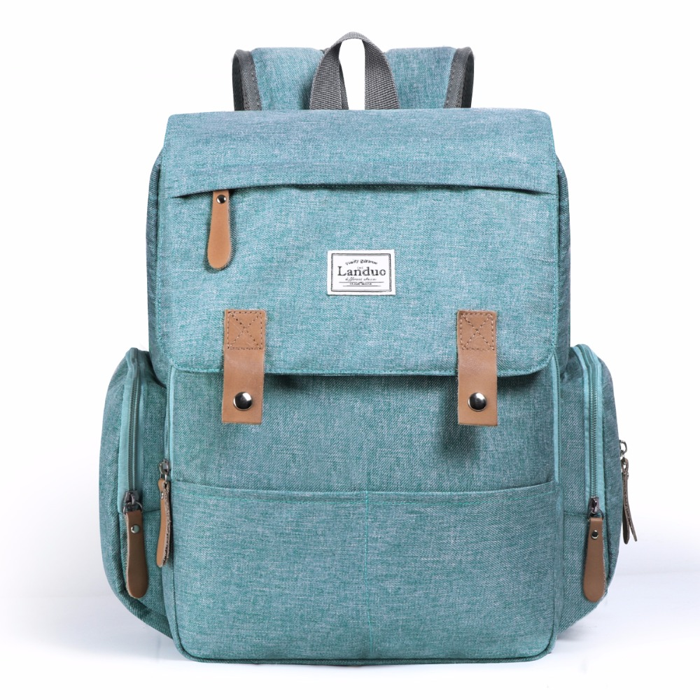 HTB1q6ONe21G3KVjSZFkq6yK4XXaW LAND Mommy Diaper Bags Landuo Mother Large Capacity Travel Nappy Backpacks with changing mat Convenient Baby Nursing Bags MPB86