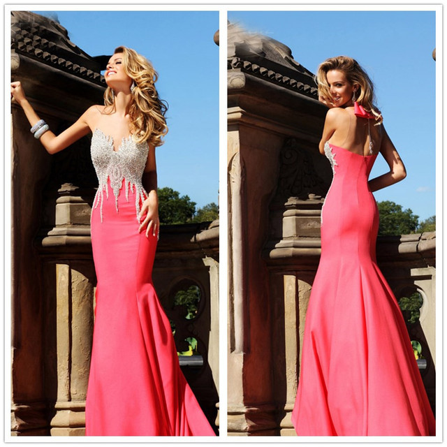 Tarik Ediz Dresses 2014 Mermaid Sweetheart Pink Taffeta Floor Length ...