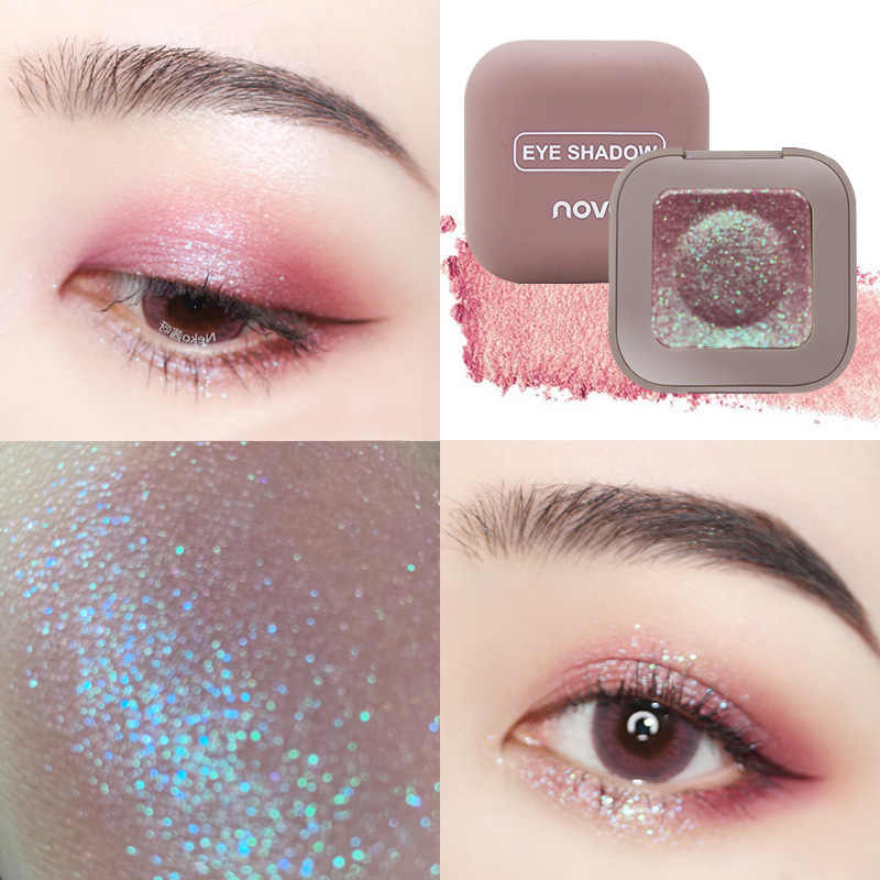 10 Color Single High Light Eye Shadow Mashed Potato Texture Shimmer Pearl Light Eye shadow Makeup Tool Silky sheen powders TSLM1
