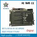 14.8 V 63WH Original Nova Bateria Do Portátil para Dell Alienware M11X M14X R1 R2 0w3vx3 08P6X6 Bateria PT6V8