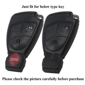 Image 2 - Jingyuqin 3/4 Knop Siliconen Remote Key Case Voor Mercedes Benz B C E Ml Clk Cl Fob Cover houder Keyless Entry Beschermende