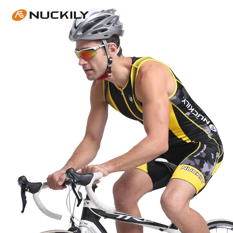 NUCKILY 2016 font b Suits b font Triathlon Mtb Cycling Sleeveless Jumpsuit Breathable Vest One piece