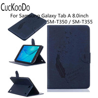 [Money/ Card Slot] Smart Wallet Case [Auto Sleep/Wake Feature] for Samsung Galaxy Tab A 8.0 SM-T350 Tablet