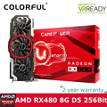 Colorfire Radeon RX 480 Ustorm GPU 8GB GDDR5 256bit PCI-E X16 3.0 VR Ready Gaming Video Cards Graphics Card 3*DP+HDMI+DVI Ports