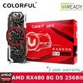 RX 480 Ustorm Colorfire Radeon GPU 8 ГБ GDDR5 256bit PCI-E X16 3.0 VR Готовые Игровые Видеокарты Видеокарта 3 * DP + HDMI + DVI порты