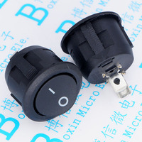 Opening 20 mm feet two ship type switch KCD1 105 2 p black become warped plate switch
