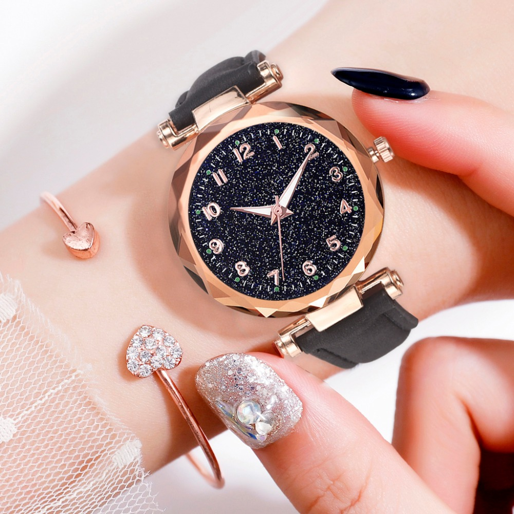 Women's Luxury Bracelet Watches Fashion Women's Dress Fashion Womens Watches Geneva Silica Analog Band Quartz Watch