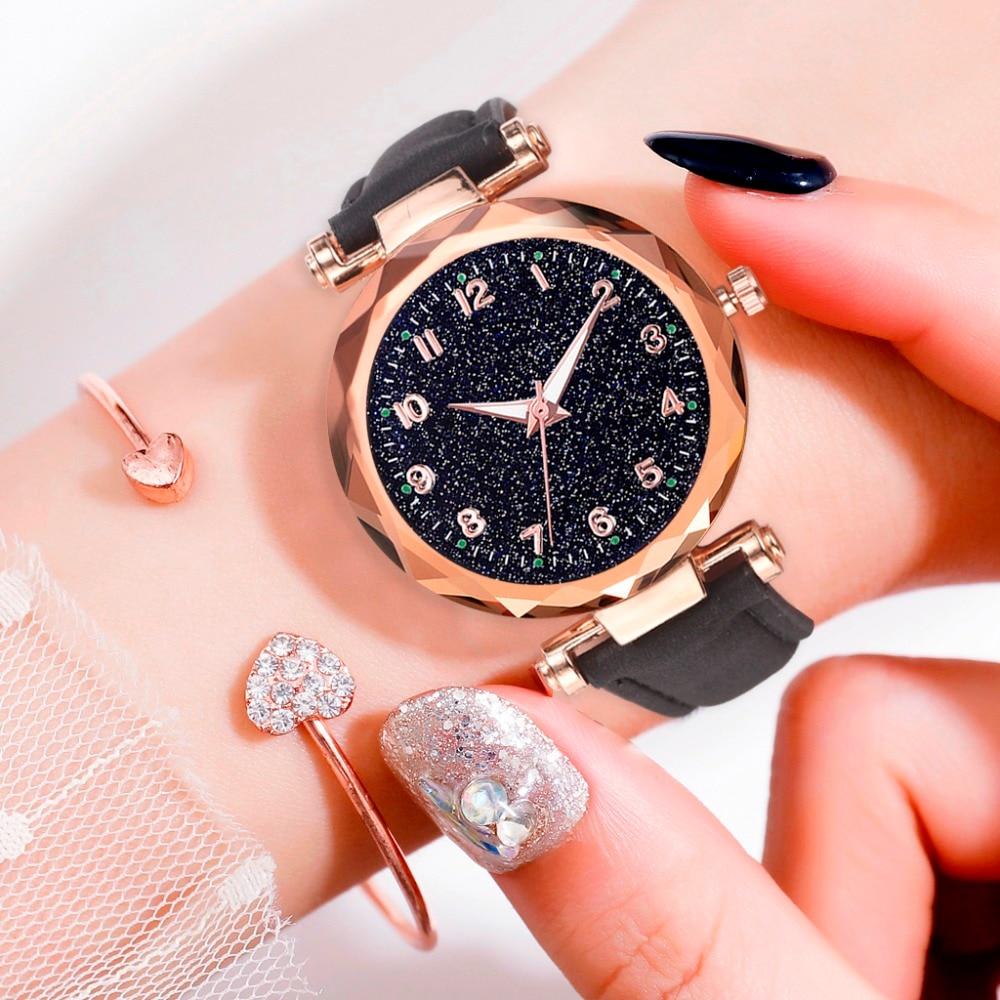 Women's Luxury Bracelet Watches Fashion Women's Dress Fashion Womens Watches Geneva Silica Analog Band Quartz Watch