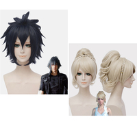 Final Fantasy XV Noct Wig Noctis Cosplay Wig Role play Lunafre Gold Wig Prompto Yellow Wig cosplay Hair costumes