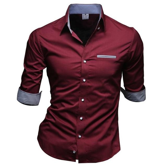 Camisa Masculina moda delgada hombres 2016 marca de ropa medio ocasional de la manga Chemise Homme Color puro Camisa Masculina PSA07