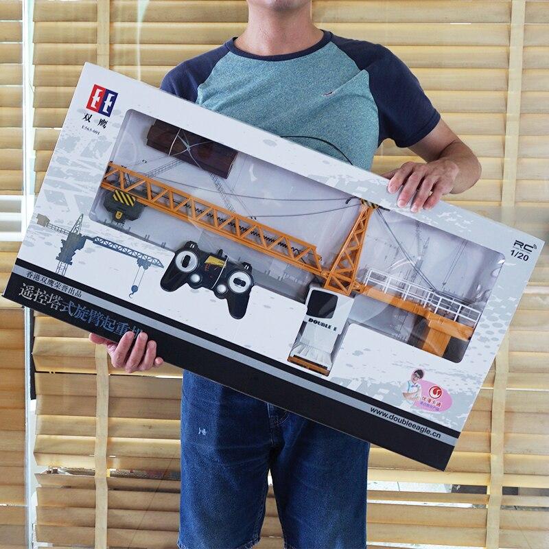 Télécommande palan télécommande jouet tour grue jouet grande voiture ingénierie garçon électrique charge sans fil télécommande modèle