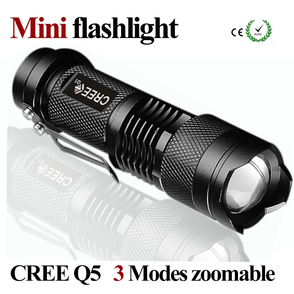 Mini LED Flashlight Waterproof Powerful Flashlight Zoomable CREE 3 Modes LED Torch Portable linternas falshligth Camping ZK93