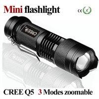 Mini Latarka LED Wodoodporna Potężny Latarka Zoomable CREE 3 Tryby Latarka LED Przenośny linternas falshligth Camping ZK93