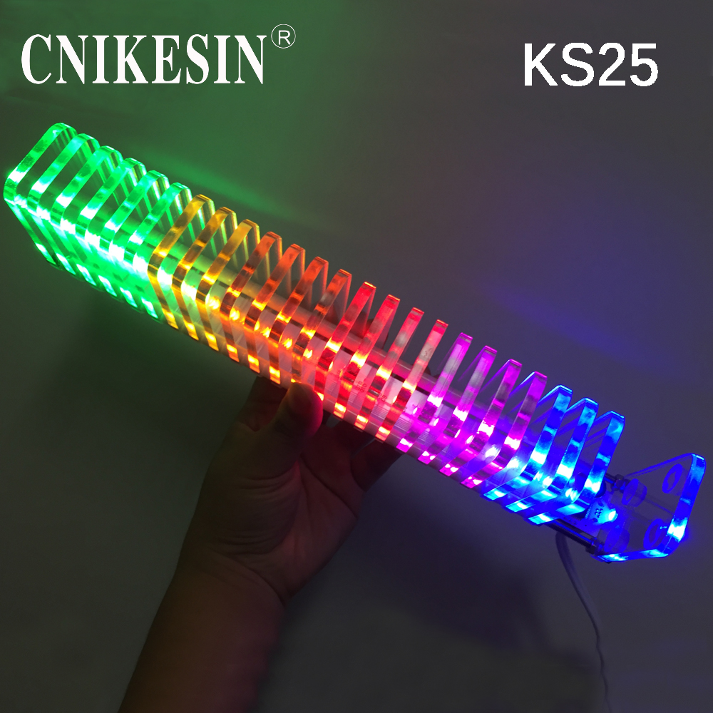 CNIKESIN KS25 Music Spectrum Fantasy Crystal Column Cube Light LED Level Electronic
