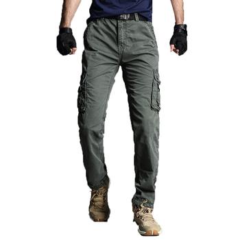 2020 męskie spodnie taktyczne War Game Cargo spodnie męskie spodnie wojskowe spodnie militarne kombinezony długie spodnie męskie spodnie oversize 40 tanie i dobre opinie FAVOCENT Spodnie cargo CN (pochodzenie) Pełna długość Mieszkanie LOOSE COTTON POLIESTER średniej wielkości Batik NONE