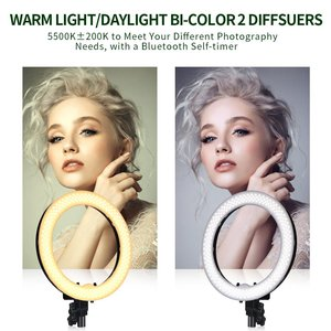 Image 3 - spash RL 18 LED Ring Light Photography Lighting with Tripod Makeup Mirror 240 LEDs Dimmable 5500K Camera Studio Phone Video Lamp