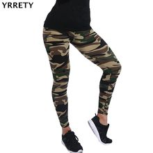 YRRETY Hot 2018 Women Camouflage Leggings Fitness Military Army Green Leggings Workout Pants Sporter Skinny Adventure Leggins(China)