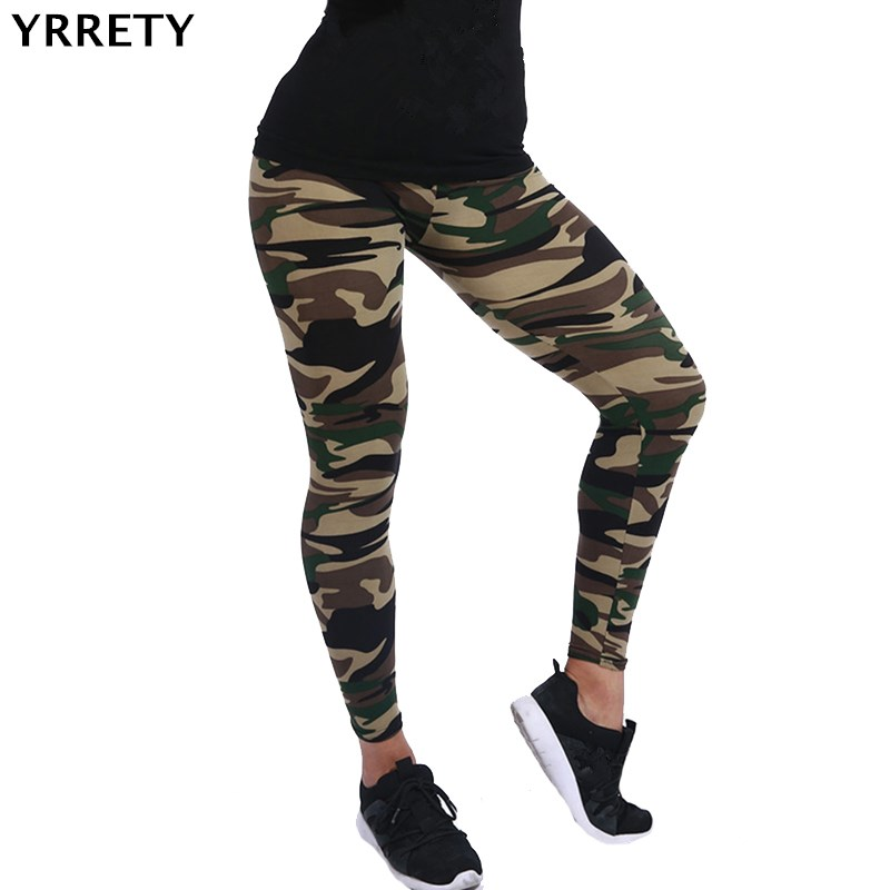 YRRETY Hot 2019 Women Camouflage Leggings Fitness Military Army Green Leggings Workout Pants Sporter Skinny Adventure Leggins