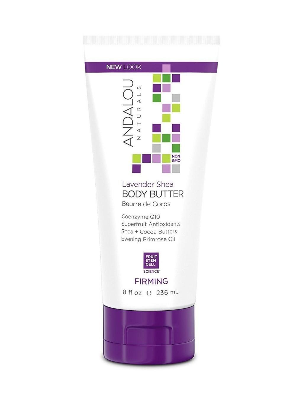 Andalou Naturals Firming Body Butter Lavender Shea - 8 Fl Oz dado sens purderm normalizing cream 1 69 fl oz