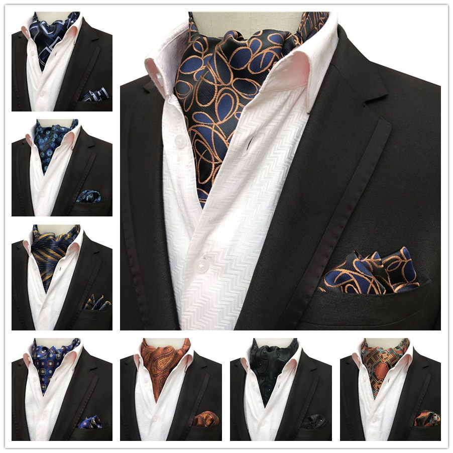 Scarf-Set Handkerchief Square Designer Men's Formal with Pocket Wedding-Party