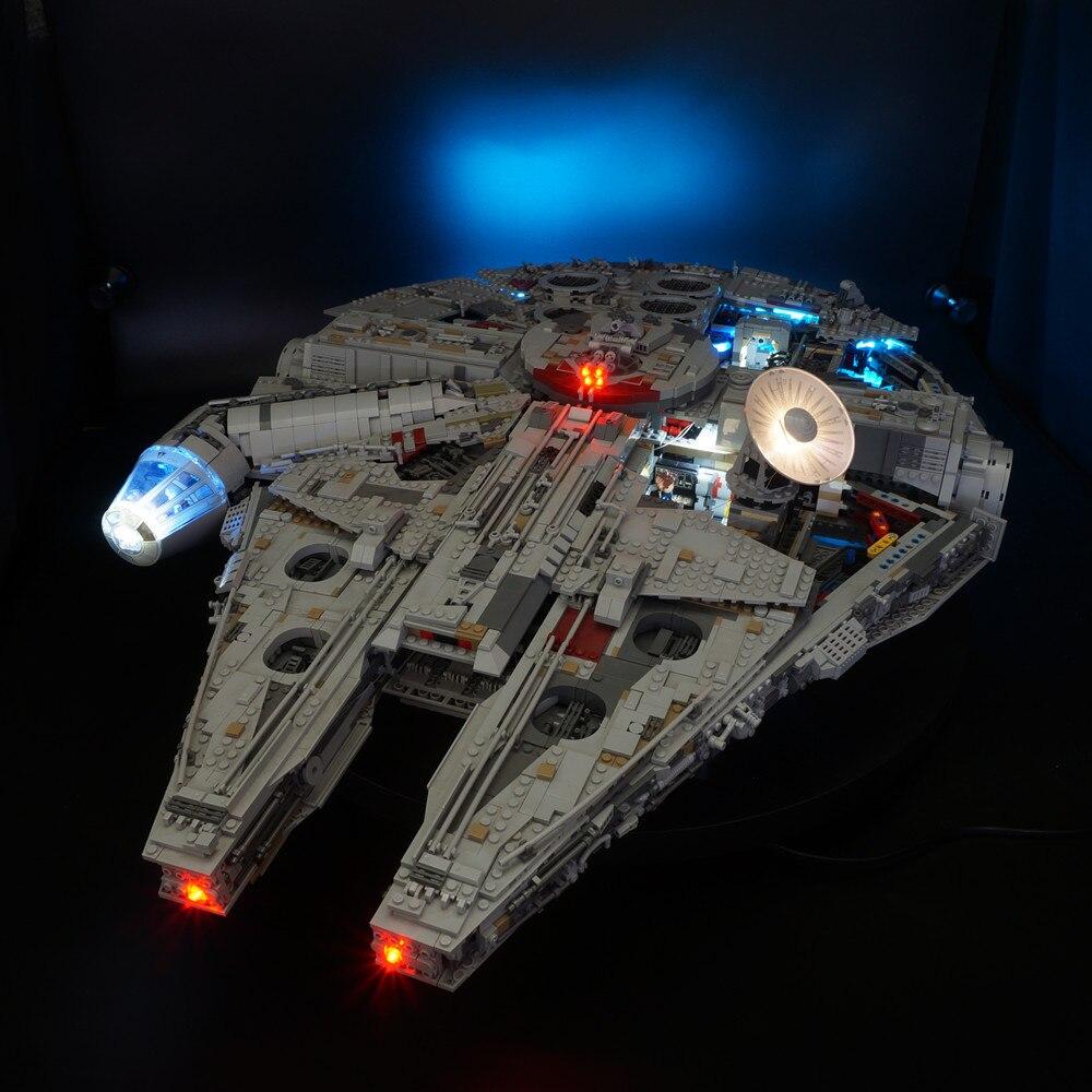 Kyglaring Ha Condotto kit luce per lego 75192 Star Guerra Falcon Millenniuml (non includere blocchi di set)Kyglaring Ha Condotto kit luce per lego 75192 Star Guerra Falcon Millenniuml (non includere blocchi di set)