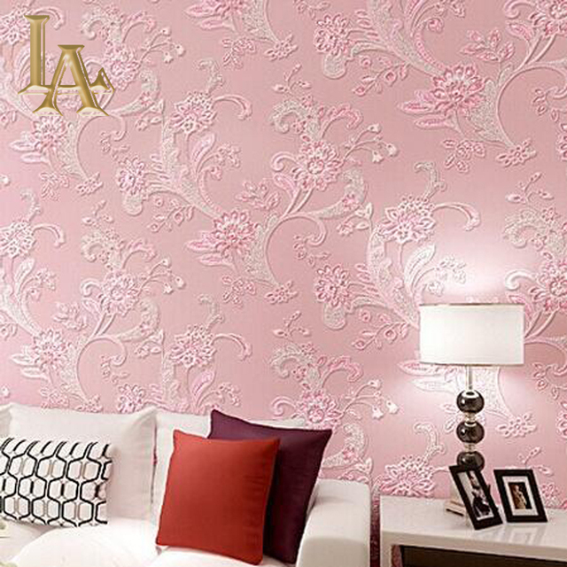 Perfect Pink Flower Wallpaper Living Room Picture Collection - Wall ...