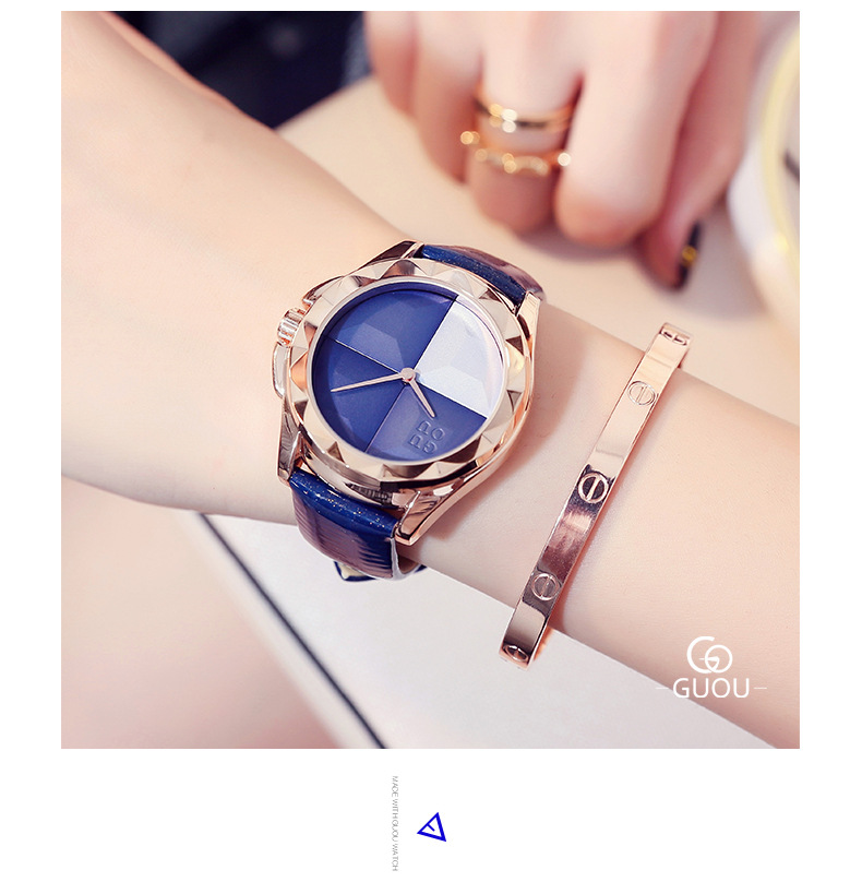 New Products reloj mujer 2017 Women's Luxury Brand GUOU Ladies Fashion Dress Watches Women Leather Quartz Watch relogio feminino top ochstin brand luxury watches women 2017 new fashion quartz watch relogio feminino clock ladies dress reloj mujer