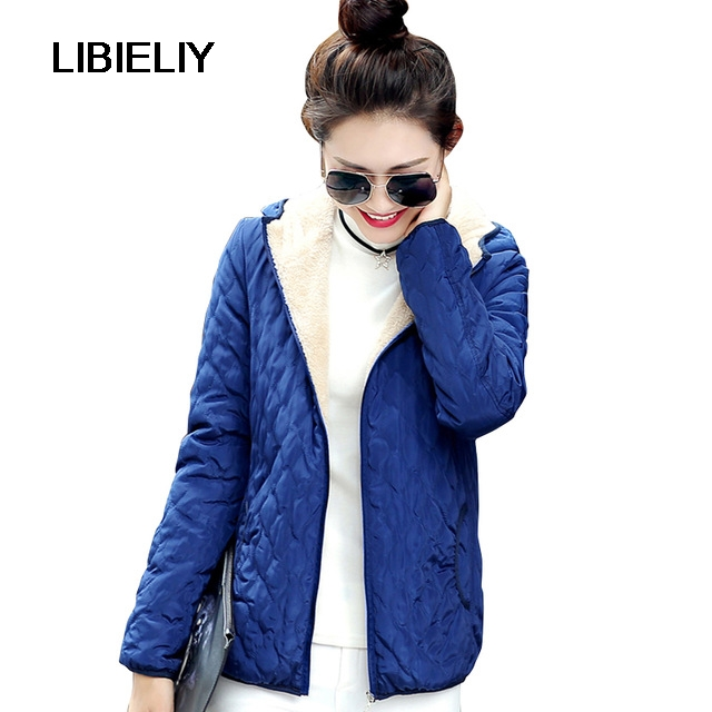 Nice Fashion Women Winter Hooded Coat Long Fleece Thin Slim Spring   Basic     Jacket   Female Outerwear Short Girls Jaqueta Feminina