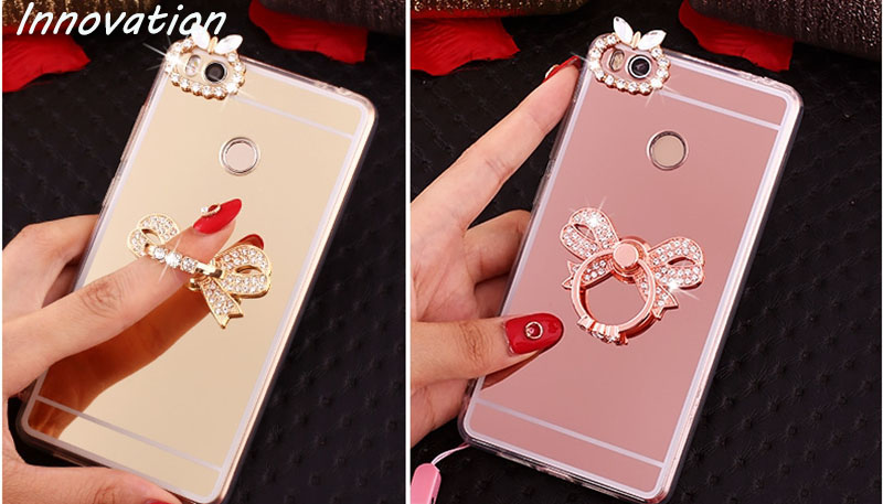 Silicone Bling Diamond Clear Cover