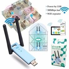 Deek-Robot Portable 2.4GHz USB2.0 300Mbps WIFI Repeater Wireless WiFi Range Extender w/ External Dual Antenna