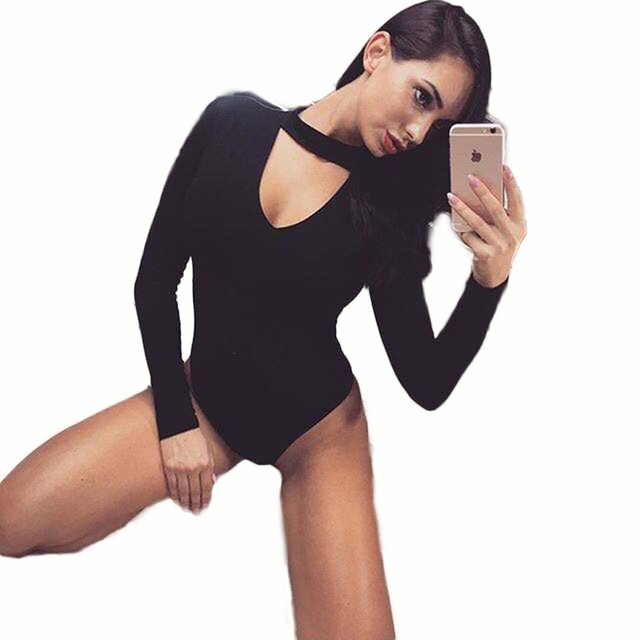Women Long Sleeve Bodysuit Sexy Romper Deep V Neck Bodycon Body Suit One Piece Fitness Overalls For Women 3