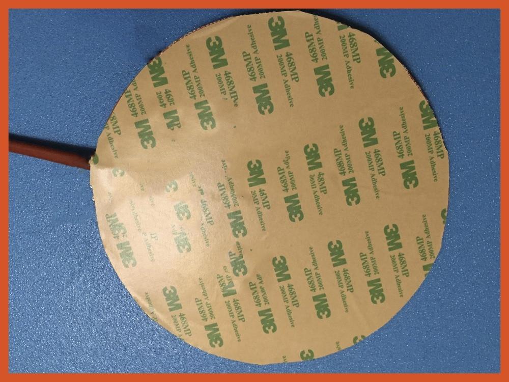 Gomma di silicone riscaldatore per stampante 3d 120 v 500 w diametro 400mm 3m adhesive 100 k termistore piombo filo oil heater 400 w 240v 245 245mm 3m adhesive piombo filo di silicone flessibile gomma 3d stampante riscaldatore silicone heater element heat