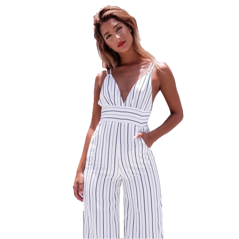 New Women Ladies Clubwear V Neck  Backless Bodycon Party Jumpsuit Romper Trousers