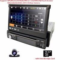 free camera one 1 din radio car dvd player gps navigator tape recorder autoradio cassette player car radio gps multimedia dab bt