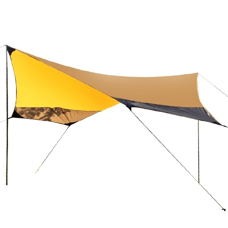 Large Space Waterproof Ultralight Portable Sun Shelter Bivvy Shade Tarp Pergola Camping Sunshade Gazebo Awning Beach Tent ZYP12 large outdoor camping pergola beach party sun awning tent folding waterproof 8 person gazebo canopy camping equipment