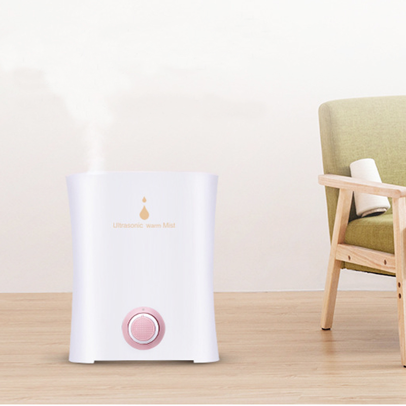 3.0L Ultrasonic Humidifier Essential Oil Diffuser Water Air Freshener Aroma Diffuser Can Be Rotated Two Mist Outlet Mist Maker