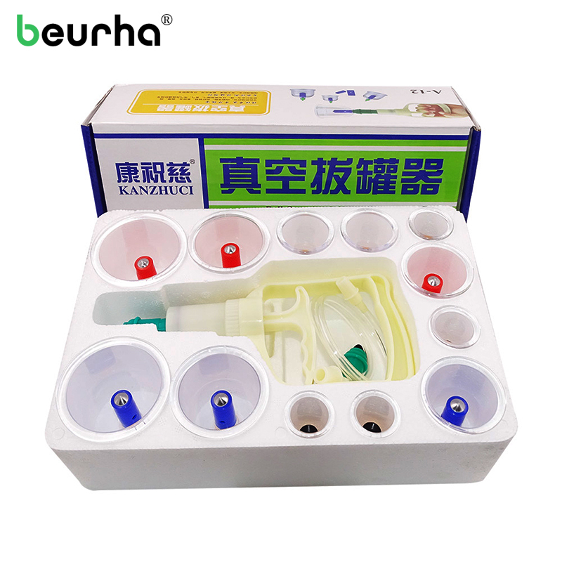 Vacuum Cans Cupping Silicone Vacuum Massage Suction Cups Therapy Body Cupping Silicone Cups Massage Set Body Massager Cellulite hot cups vacuum cupping set massage cans